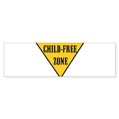 Child-Free Zone Sticker (Bumper 10 pk)