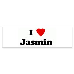 I Love Jasmin Sticker (Bumper 10 pk)