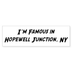 Famous in Hopewell Sticker (Bumper 10 pk)