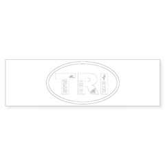 Triathlon Oval Sticker (Bumper 10 pk)