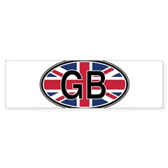 Great Britain Euro Oval Sticker (Bumper 10 pk)