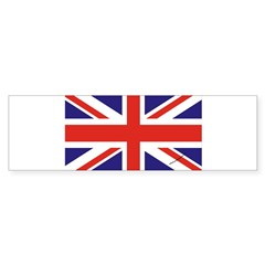 British Flag Euro Oval Sticker (Bumper 10 pk)