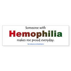 Hemophilia Pride Rectangle Sticker (Bumper 10 pk)