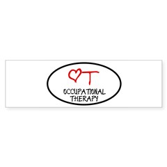 Occupational Therapy Heart Oval Sticker (Bumper 10 pk)