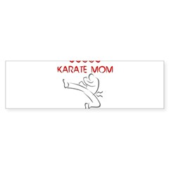 Proud Karate Mom Rectangle Sticker (Bumper 10 pk)