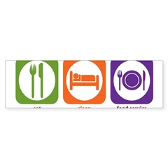 Eat Sleep Food Service Rectangle Sticker (Bumper 10 pk)