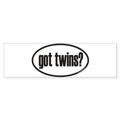 got twins? Euro Oval Sticker (Bumper 10 pk)