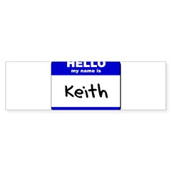 hello my name is keith Rectangle Sticker (Bumper 10 pk)