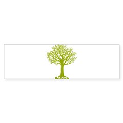 TREE hugger (lime) Rectangle Sticker (Bumper 10 pk)