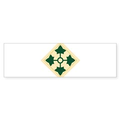 4th Infantry Division Rectangle Sticker (Bumper 10 pk)