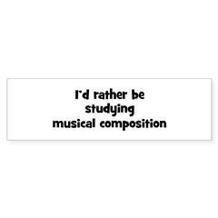 Study musical composition Sticker (Bumper 10 pk)