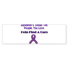 alzheimer's steals Sticker (Bumper 10 pk)