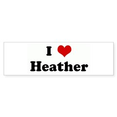 I Love Heather Sticker (Bumper 10 pk)