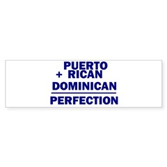 Dominican + Puerto Rican Rectangle Sticker (Bumper 10 pk)