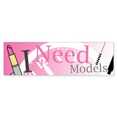 I Need Models Sticker (Bumper 10 pk)