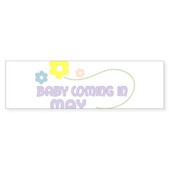 Due in May Rectangle Sticker (Bumper 10 pk)