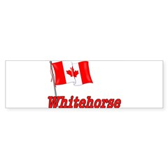 Canada Flag - Whitehorse Rectangle Sticker (Bumper 10 pk)