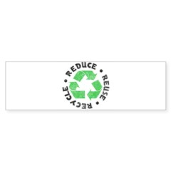 Recycle! Rectangle Sticker (Bumper 10 pk)