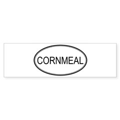 CORNMEAL (oval) Oval Sticker (Bumper 10 pk)