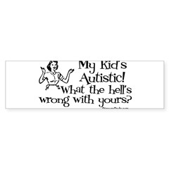 My kid's Autistic Rectangle Sticker (Bumper 10 pk)