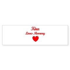 Kira Loves Mommy Rectangle Sticker (Bumper 10 pk)