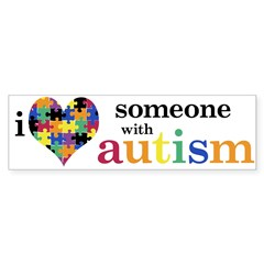 I HEART Someone with Autism - Sticker (Bumper 10 pk)