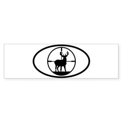 Hunting Stag Oval Sticker (Bumper 10 pk)