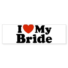 I Love My Bride Rectangle Sticker (Bumper 10 pk)