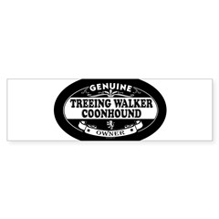 TREEING WALKER COONHOUND Oval Sticker (Bumper 10 pk)