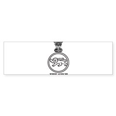 The Sikh Regiment Emblem Rectangle Sticker (Bumper 10 pk)