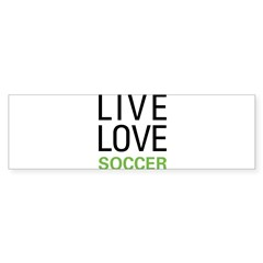 Live Love Soccer Rectangle Sticker (Bumper 10 pk)
