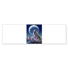 Howling Wolf 1 Rectangle Sticker (Bumper 10 pk)