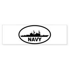 NAVY Destroyer Oval Sticker (Bumper 10 pk)