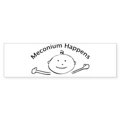 Meconium Happens Oval Sticker (Bumper 10 pk)