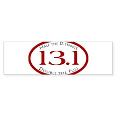 13.1 - Half the Distance Oval Sticker (Bumper 10 pk)