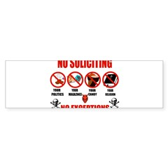 No Solicitors Rectangle Sticker (Bumper 10 pk)