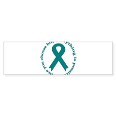 Teal Hope Oval Sticker (Bumper 10 pk)