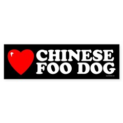 CHINESE FOO DOG Sticker (Bumper 10 pk)