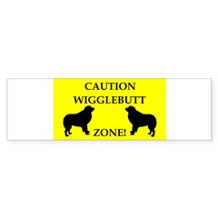 Wigglebutt Zone Sticker (Bumper 10 pk)