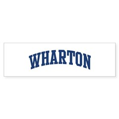 WHARTON design (blue) Sticker (Bumper 10 pk)
