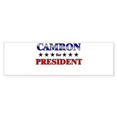CAMRON for president Rectangle Sticker (Bumper 10 pk)