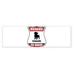 Schnoodle On Guard Rectangle Sticker (Bumper 10 pk)