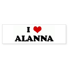 I Love ALANNA Rectangle Sticker (Bumper 10 pk)