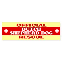 DUTCH SHEPHERD DOG Sticker (Bumper 10 pk)