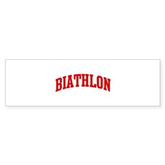 Biathlon (red curve) Sticker (Bumper 10 pk)
