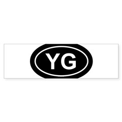 YG Oval Sticker (Bumper 10 pk)