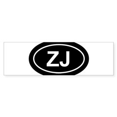 ZJ Oval Sticker (Bumper 10 pk)