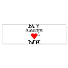 My Grandaughter Loves Me Rectangle Sticker (Bumper 10 pk)