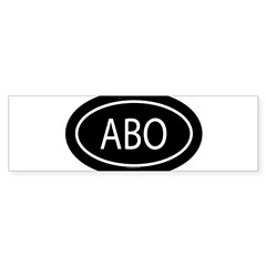 ABO Oval Sticker (Bumper 10 pk)