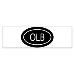 OLB Oval Sticker (Bumper 10 pk)